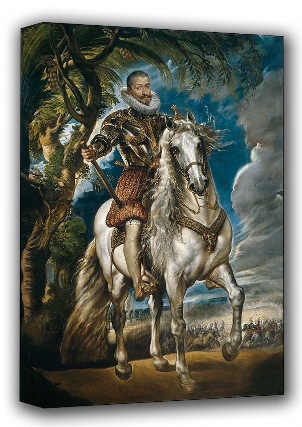 Rubens, Peter Paul: Equestrian Portrait of the Duke of Lerma. Fine Art Canvas. Sizes: A3/A2/A1 (001087)